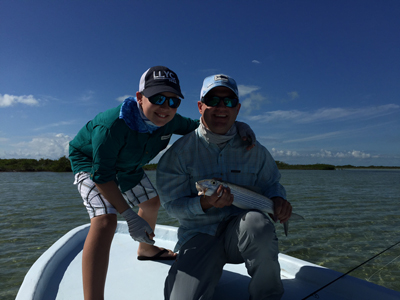 Clients' first bonefish